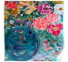 Romance Flowers Designer Art Decor & Gifts - Pink Poster