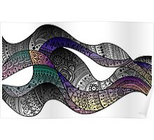 paisley waves Poster