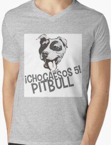 Choca esos cinco Pitbull Mens V-Neck T-Shirt