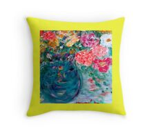 Romance Flowers Designer Art Decor & Gifts - Yellow Throw Pillow