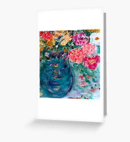 Romance Flowers Designer Art Decor & Gifts - Yellow Greeting Card
