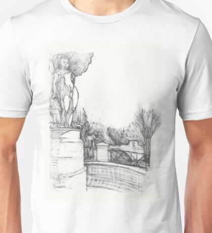 Old fountain in the park Unisex T-Shirt