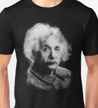 Albert Einstein Portrait Vintage Graphic Unisex T-Shirt