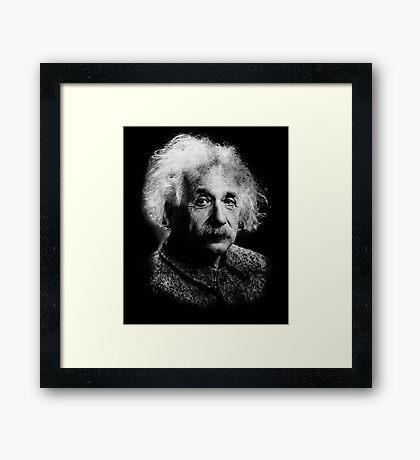 Albert Einstein Portrait Vintage Graphic Framed Print
