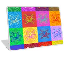 Atom with Nucleus and Electrons Laptop Skin
