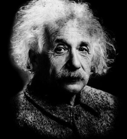 Albert Einstein Portrait Vintage Graphic Sticker
