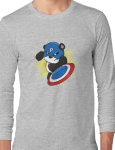 Captain Panda - The First Panda Avenger Long Sleeve T-Shirt