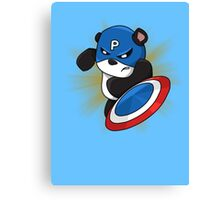 Captain Panda - The First Panda Avenger Canvas Print