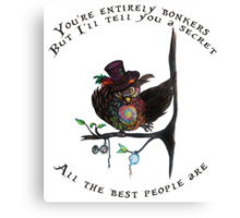 Crazy Owl - Mad Hatter inspired Canvas Print
