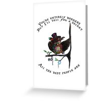 Crazy Owl - Mad Hatter inspired Greeting Card