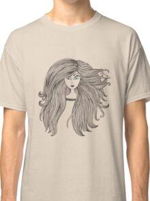Girl with long beautiful hair Classic T-Shirt