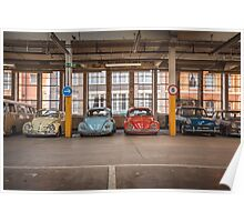 VW Beetle Bus Camper Classics Poster