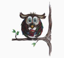 Crazy Owl - Bookworm T-Shirt