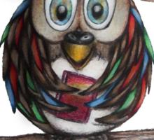 Crazy Owl - Bookworm Sticker