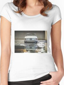 VW Beetle Bus Camper Classics 5 Women's Fitted Scoop T-Shirt