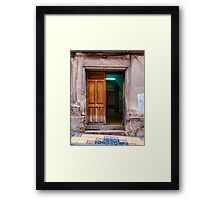 Doors of Bolivia - The Green Room Framed Print