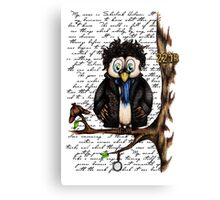 Crazy Owl - Sherlock Holmes inspired Canvas Print