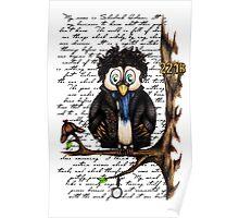 Crazy Owl - Sherlock Holmes inspired Poster