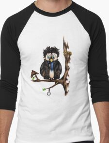 Crazy Owl - Sherlock Holmes inspired Men's Baseball ¾ T-Shirt