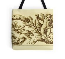 Vintage Decoration with Angels Tote Bag