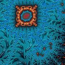 Orange and Blue Abstract  by John Edwards