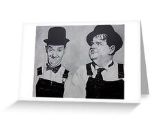 Laurel & Hardy Greeting Card