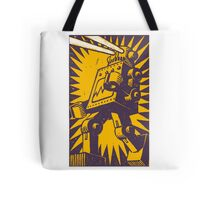 Purple Robot Tote Bag