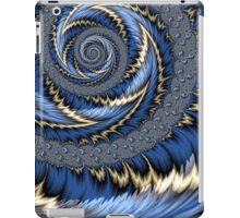 Blue Gold Spiral Abstract iPad Case/Skin