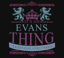 It's an EVANS Thing by RooDesign