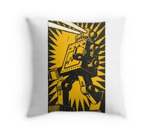 Black Robot Throw Pillow