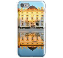Slavkov castle reflected in water iPhone Case/Skin