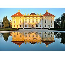 Slavkov castle reflected in water Photographic Print