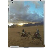 Camels sunset in egypt iPad Case/Skin