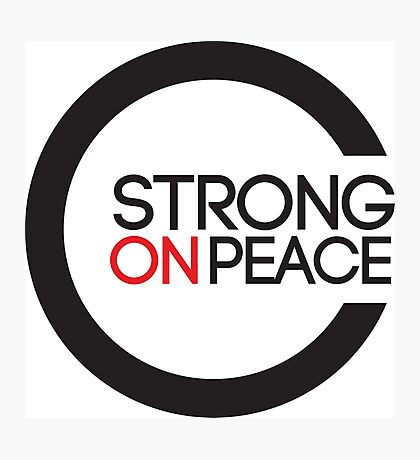 Strong On Peace -  Within The Globe Photographic Print