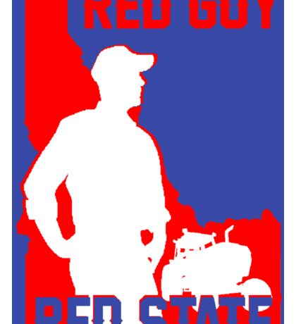 Red Guy Red State - Farmer Sticker