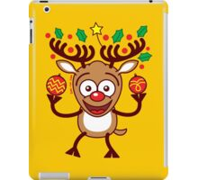 Cool Reindeer Decorating for Christmas iPad Case/Skin