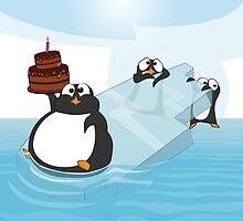 Birthday Penguin by rickystiles