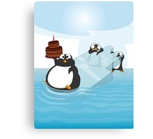Birthday Penguin Canvas Print