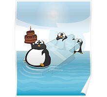 Birthday Penguin Poster