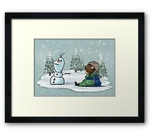 We used to be best buddies... Framed Print