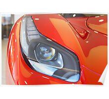 Ferrari - La Ferrari Head Light Poster