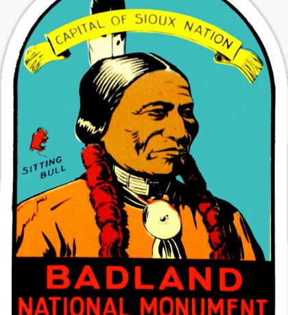 Badlands National Park South Dakota Vintage Travel Decal Sticker