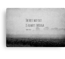 Way Robert Frost Canvas Print