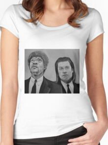 pulp fiction Women's Fitted Scoop T-Shirt