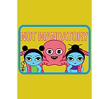 "Fruity Oaty Bar! ""NOT MANDATORY"" Shirt (Firefly/Serenity) Photographic Print"