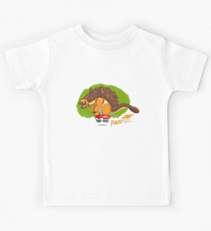 Paleo Kids-Ankylosaur Paleo Flyer with Lenny Kids Tee
