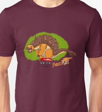 Paleo Kids-Ankylosaur Paleo Flyer with Lenny Unisex T-Shirt