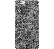 arrow flowers black white iPhone Case/Skin