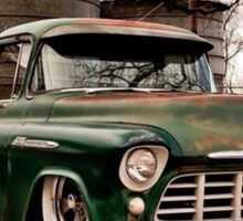 Chev truck, laided out, patina what more do you want? Sticker