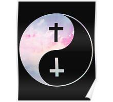 Yin Yang Pastel Clouds Poster
